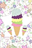 Dot Grid Journal: Sparkling Ice Cream Cone Diary: 6 X 9 Dotted 110 Pages Notebook Sketchbook Planner for Keeping a Personal Reflection, Sketching, Scribbling, Bullet Jotting, Coloring, Thoughts, Feelings and Sayings: Daily Entry Writing Ideas for Women, G