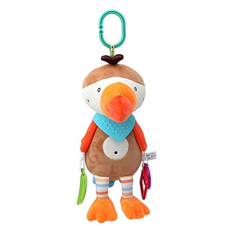 Fashionwu がらがら ラトル玩具 ベビーぬいぐるみ 可愛い動物 ふわふわ 面白い カラフル