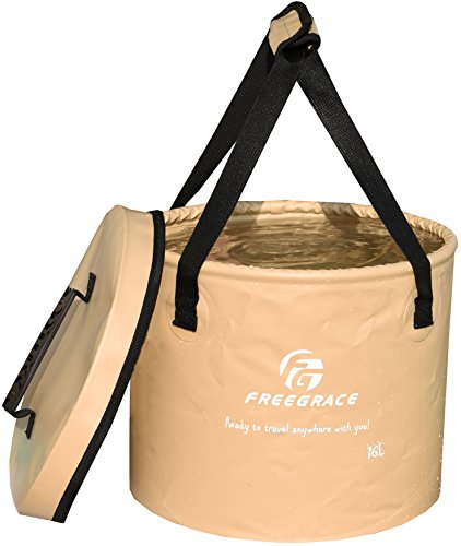 Freegrace 折りたたみ式 バケツ 持ち運び 畳めるデザイン 水の容器...