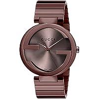 Gucci Men's YA133211 Year-Round Analog Quartz Brown Watch