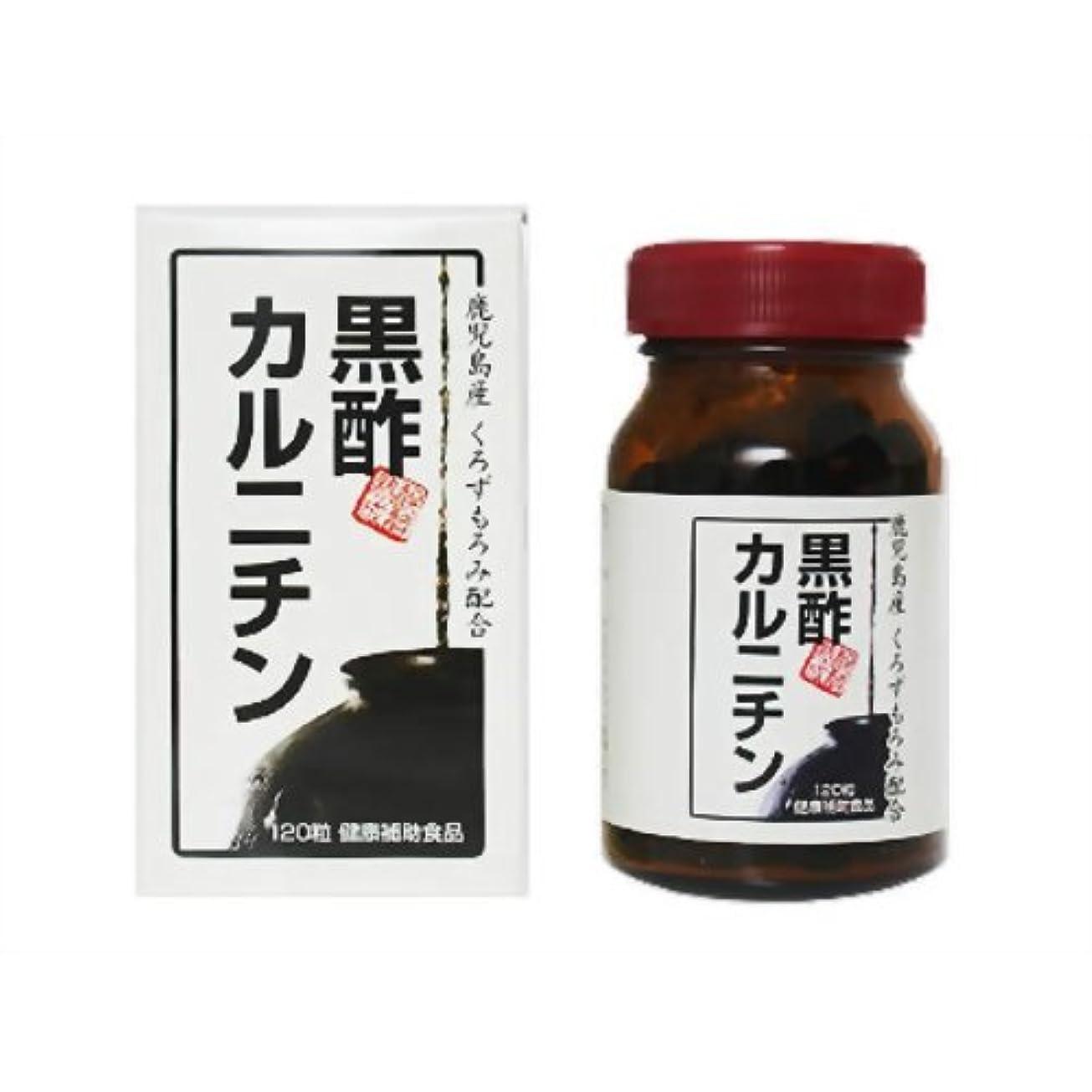 ジュース有効ノート黒酢カルニチン 120粒
