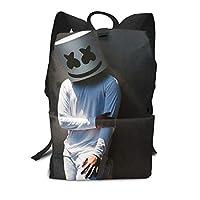Aligado マシュメロ Marshmello バックパックリュック 大人 大容量 かわいい リュック サック 男の子 高校生 子供 通学 通勤 キャンバス バッグ 旅行かばん 学生 アウトドア 収納バック 多機能 ナップザック