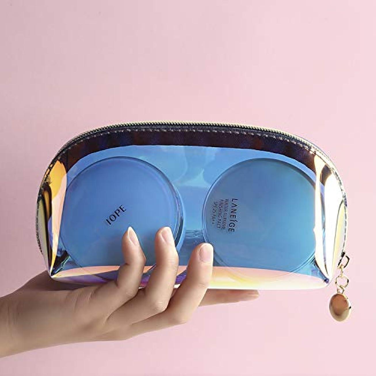 たくさんご意見なる化粧ポーチ 透明メイクポーチ コスメポーチ 小物入れ 防水 トラベルポーチ 旅行 出張 洗面用具入れ 軽量 便利(S)
