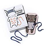 Wee Gallery, Baby Animals Lacing Cards, Learning, Flash Cards