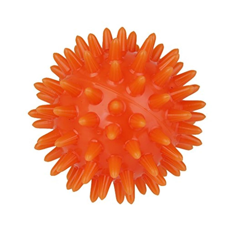 モッキンバードシャンプー流産SONONIA マッサージボール  手のひら 足 腕 首 背中 足首 ダーク フック側 オレンジ 5.5cm