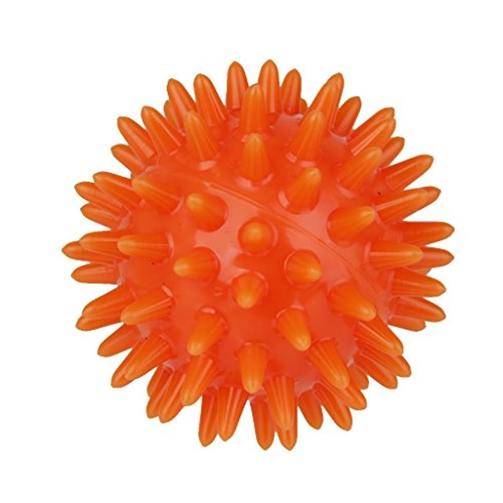 Fenteer ソフト マッサージボール 手のひら 足 腕 首 背中 マッサージ 疲れ 緩和 オレンジ