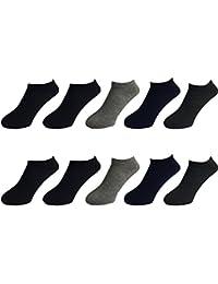 Leap 靴下 メンズ ショートソックス シンプル くるぶしソックス アンクルソックス 10足組 25㎝-27㎝