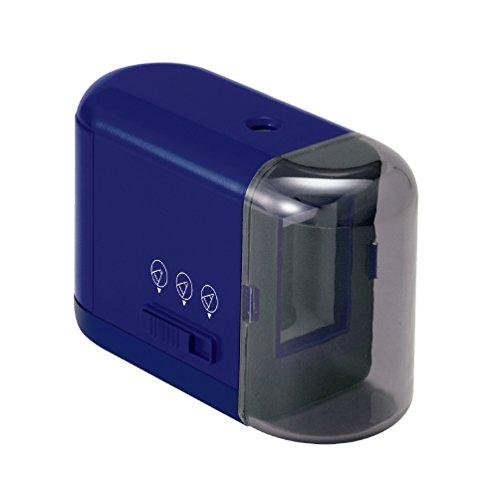 プラス 乾電池式鉛筆削り ブルー 84-028