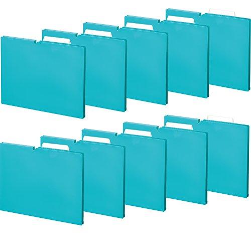 コクヨ ファイル 個別フォルダー NEOS A4 15mm 3辺とじ 10冊 ターコイズブルー A4P-NEF15BX10