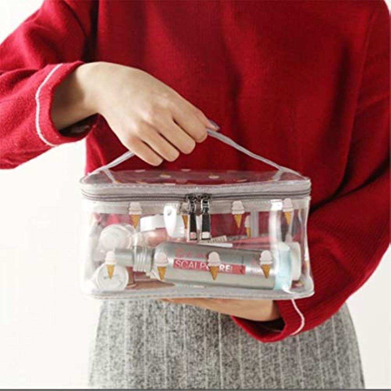 カポックとげ急降下化粧品収納バッグ、透明PVC旅行化粧バッグポーチ防水トイレタリーバッグ、ハンドルデザイン