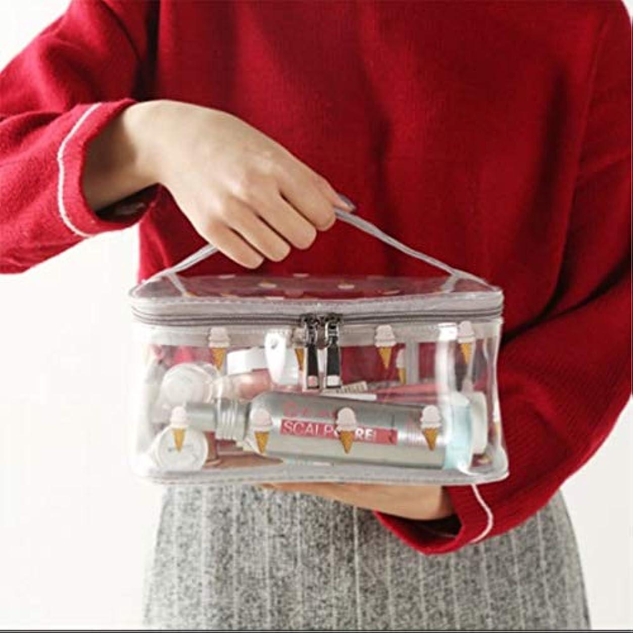 上院議員不安定お母さん化粧品収納バッグ、透明PVC旅行化粧バッグポーチ防水トイレタリーバッグ、ハンドルデザイン