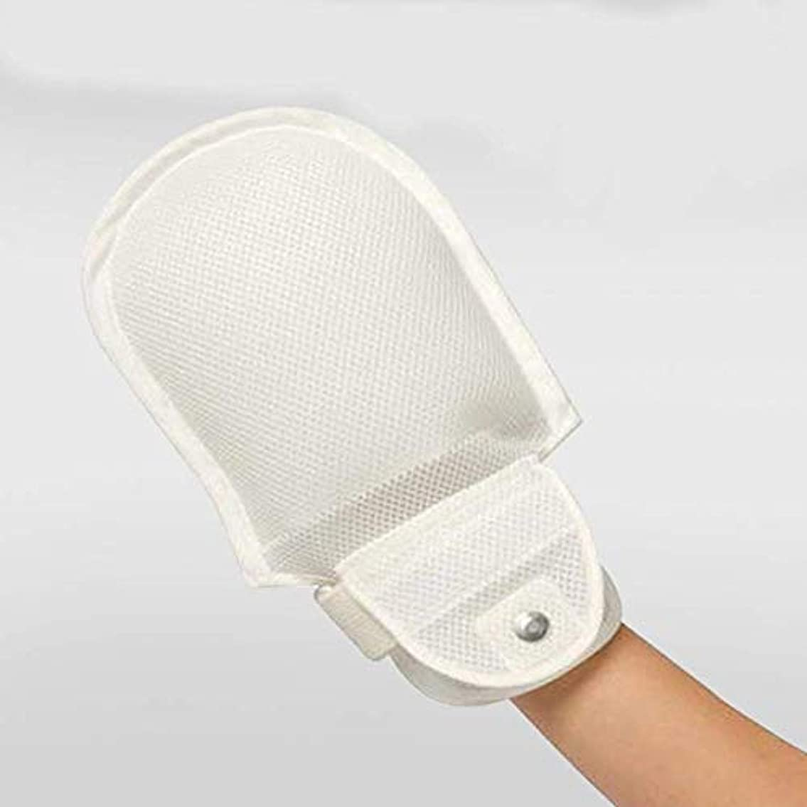 プランテーションアトミックドラッグフィンガーコントロールミット、手の拘束、認知症安全拘束手袋ハンドプロテクターを保護します。 (2PCS)