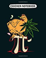 Chicken Notebook: chicken pot pi funny   College Ruled - 50 sheets, 100 pages - 8 x 10 inches