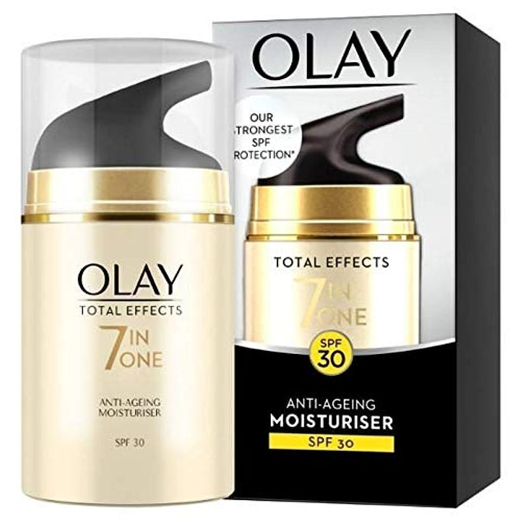 丘革命ダウン[Olay ] オーレイ総効果保湿Spf 30 50Mlの - Olay Total Effects Moisturiser SPF 30, 50 ml [並行輸入品]