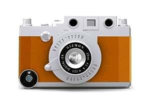 GIZMON SoftBank au iPhone4 4S用 カメラ型 ケース GIZMON iCA BROWN (ブラウン) 10451