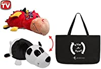 FlipaZoo 16%ダブルクォーテ% & FlipaTote COMBO ( Panda / Ember Dragon ) Huggable Flip a Zoo Stuffed Animal is 2 Zoo Pets in 1 [並行輸入品]