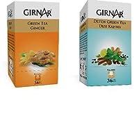ティーチャイ自然なお茶の味の緑茶最高品質のティーメーカーコンボなし副作用デトックスとジンジャー(36TB)