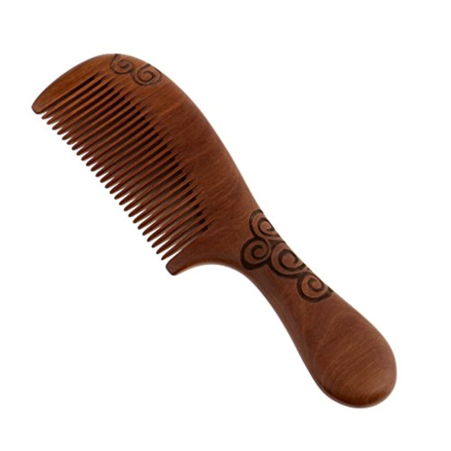 繰り返す通知するシロクマ櫛 コーム くし コーム ヘアコーム 木製 ヘア櫛 頭皮マッサージ 耐熱性 帯電防止