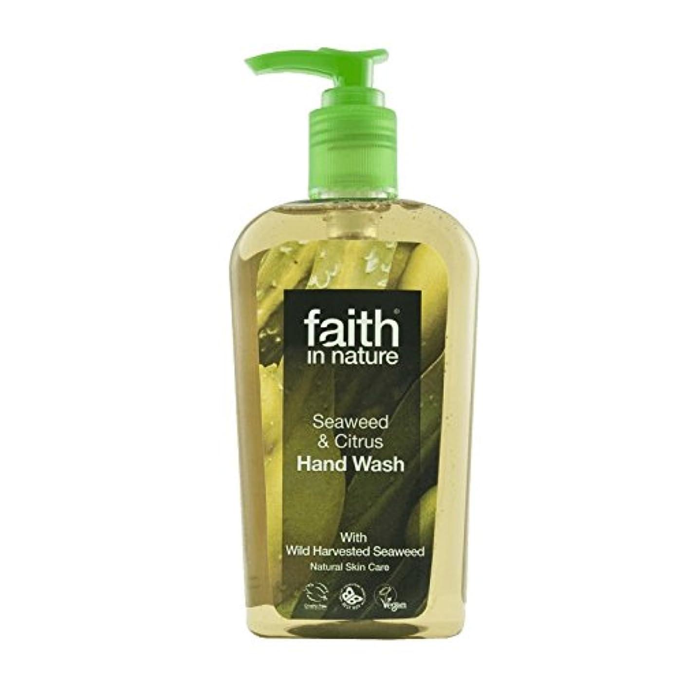 やめる暗黙雲Faith In Nature Seaweed Handwash 300ml (Pack of 6) - 自然海藻手洗いの300ミリリットルの信仰 (x6) [並行輸入品]