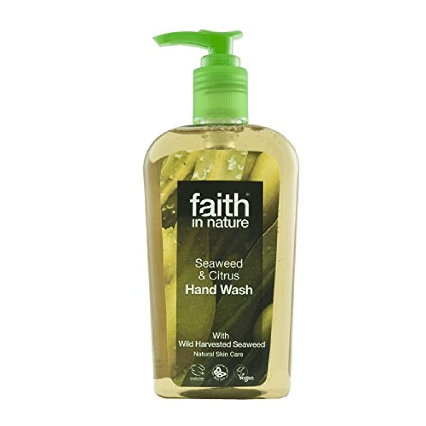 クスコ希望に満ちた優れましたFaith In Nature Seaweed Handwash 300ml (Pack of 2) - 自然海藻手洗いの300ミリリットルの信仰 (x2) [並行輸入品]