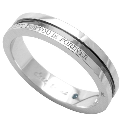 [クローストゥーミー]Close to me リング ブルーダイヤモンド MY LOVE FOR YOU IS FOREVER メンズ ブラック SR14-014BK/15 日本サイズ15号