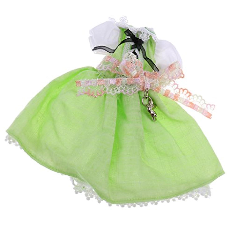 SONONIA 人形用 メイドレーススカート 12インチブライスドール用衣服 アクセサリー 全3色 - 緑