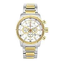 """Giorgio Milano メンズ 腕時計""""Laguna"""" ラウンドステンレススチールケース クロノグラフ 日付 数字とインデックスの文字盤。 ステンレススチール製ブレスレット。 TWO TONE-GOLD"""