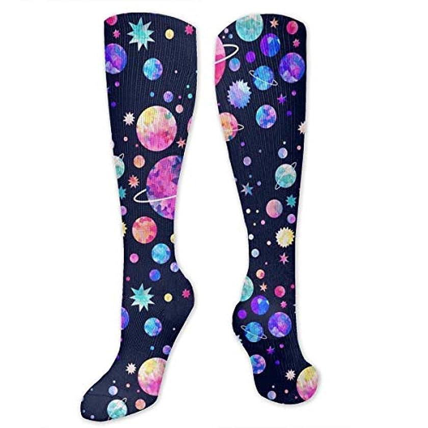 充実マティス流体靴下,ストッキング,野生のジョーカー,実際,秋の本質,冬必須,サマーウェア&RBXAA Distant Galaxy Space Socks Women's Winter Cotton Long Tube Socks Cotton...