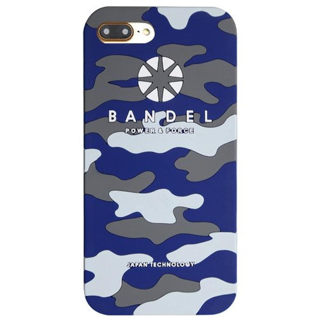 適応的セッション興奮するバンデル(BANDEL) ロゴ iPhone 7 Plus専用 シリコンケース [ネイビー×カモフラージュ]