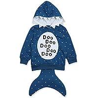 ERREACKA Boys Girls Toddler Long Sleeve Sweatshirt Coat Cartoon Animals Stereo Shark Hooded 1Pc for 1Y-5Y