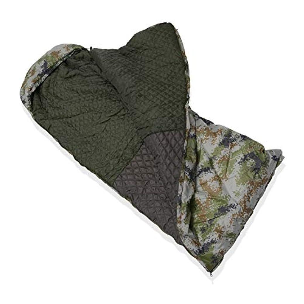 論文明らかに二層迷彩 封筒 寝袋,超軽量 大人 防水 軽量 コンパクト 屋外 屋内 パッドを睡眠 夏 春 旅行 キャンプ ハイキング-B 220x70cm(87x28inch)