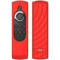 ATiC 5.9インチ Fire TV 4K / Fire TV Stick (第1,2世代)保護カバー 音声認識リモコン専用カバー 滑りとめ 衝撃吸収 シリコン保護ケース Red