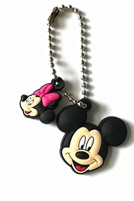 Disney マスコット キーチェーン ミッキー ミニー キーホルダー JB-197