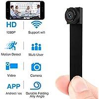 UYIKOO 超小型 隠しカメラ 1080P 動体検知 長時間録画 防犯監視カメラ ミニカメラ 携帯便利 日本語取扱書付き