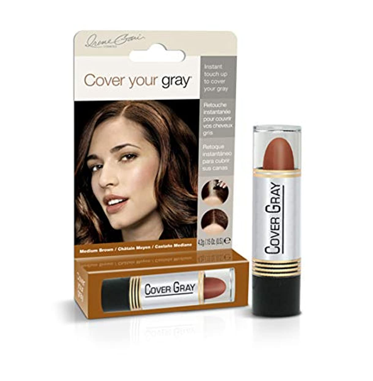 デュアル遊び場オンCover Your Gray Stick Medium Brown 44 ml. (Pack of 6) (並行輸入品)