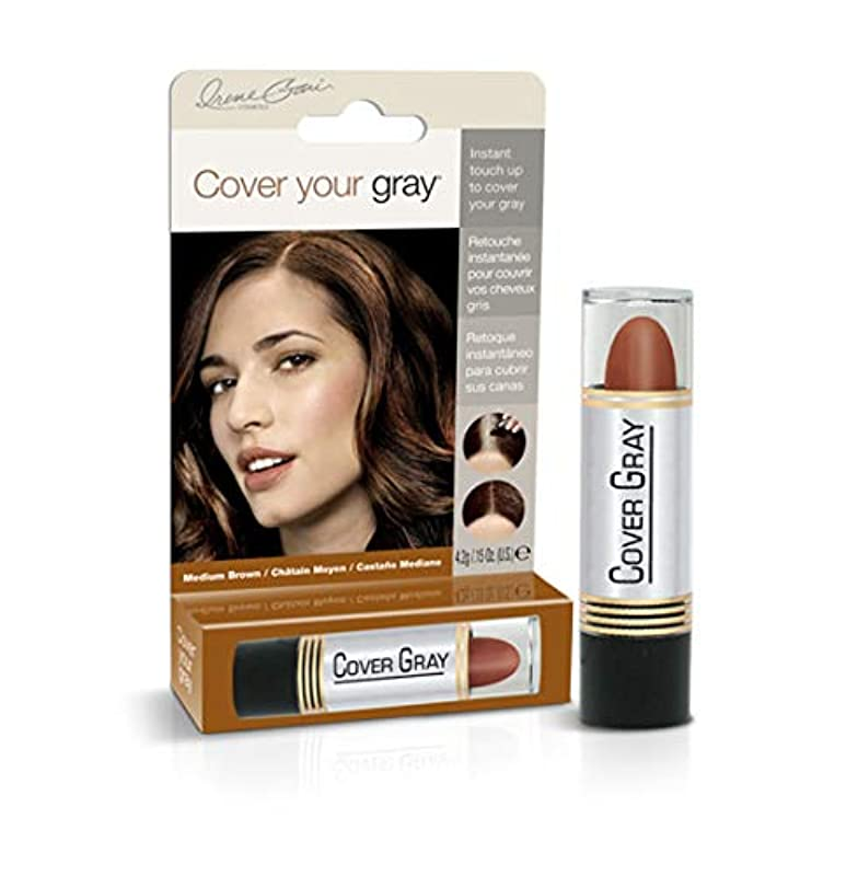 アリ最小化する役割Cover Your Gray Stick Medium Brown 44 ml. (Pack of 6) (並行輸入品)