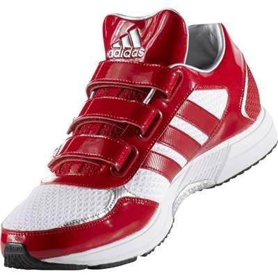 adidas アディダス トレーニング シューズ アディピュア BB RUN TR CDS59 靴 野球用品 トレシュー (CG5104)ホワイト×レッド 27.0cm