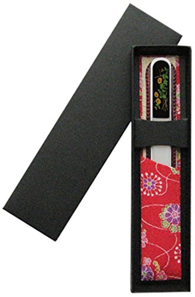 阻害する写真の発行する橋本漆芸 ブラジェク製高級爪ヤスリ 十月 菊 OPP