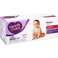 Affordable, Hypoallergenic Scented Baby Wipes, 800 Ct with Aloe, Cloth-like Material and Flip-top Container Lid by Parent's Choice