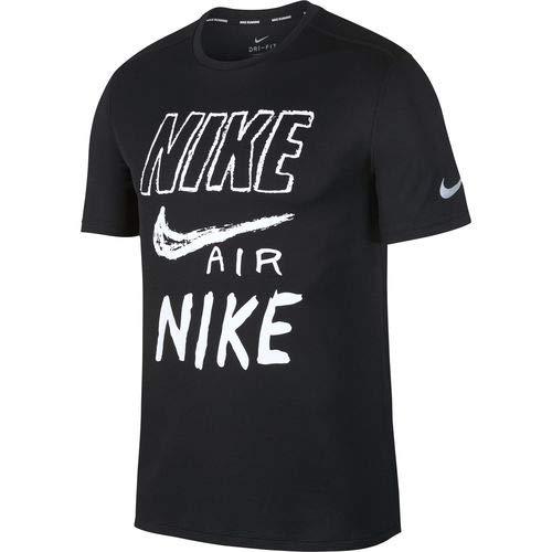 (ナイキ) NIKE Tシャツ 半袖 ナイキブリーズラン GX S/S トップ メンズ ランニング トレーニング AJ7585 M BLACK