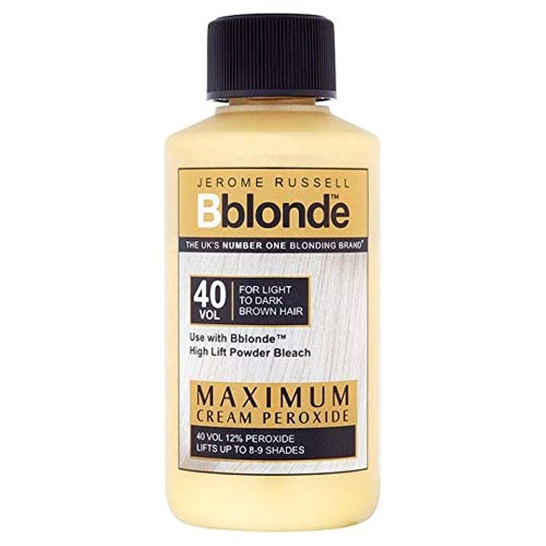 気候の山スーツケーススラム[Jerome Russell] ジェロームラッセルB金髪最大クリームパー40巻 - Jerome Russell B Blonde Max Cream Peroxide 40 Volume [並行輸入品]