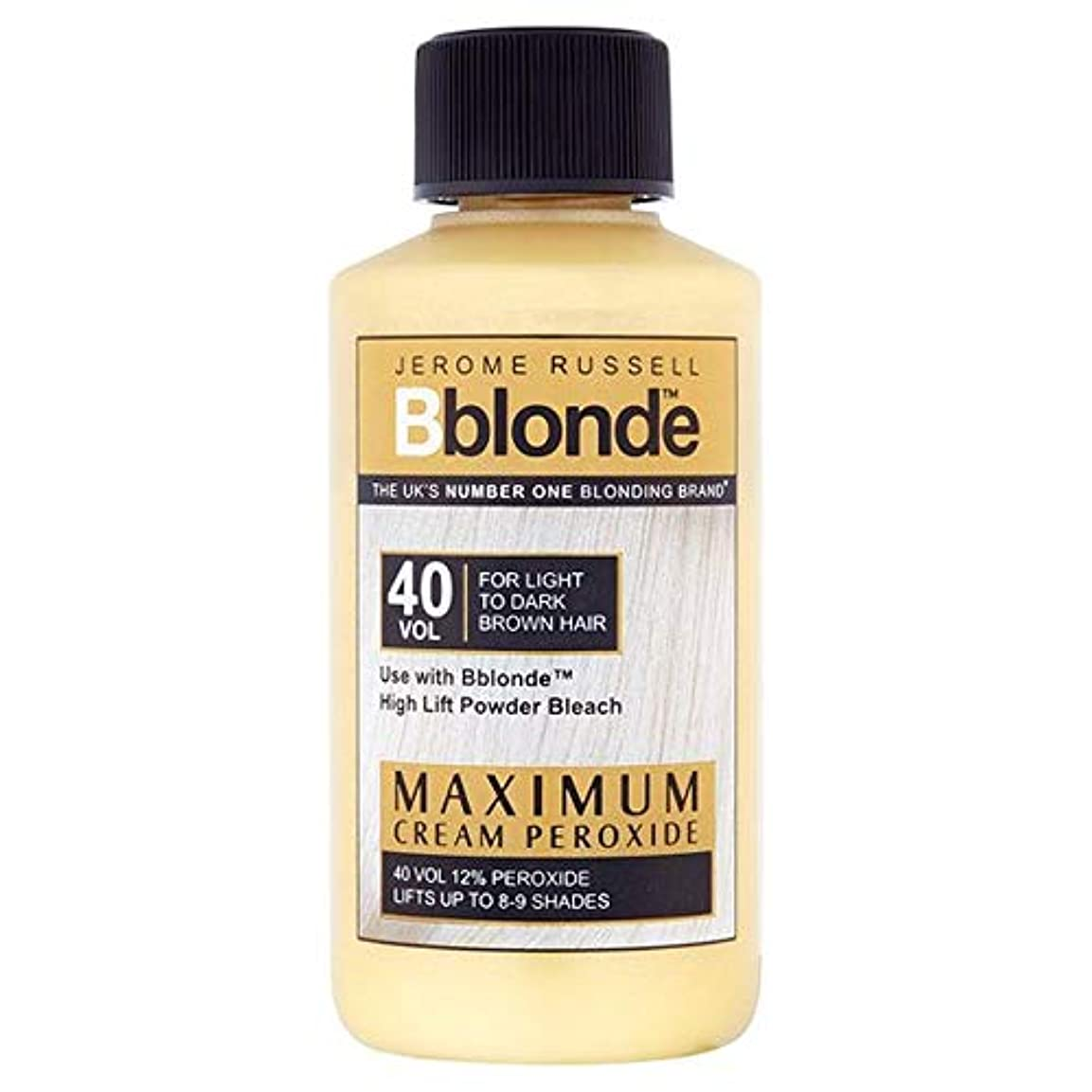ポジション似ているティーム[Jerome Russell] ジェロームラッセルB金髪最大クリームパー40巻 - Jerome Russell B Blonde Max Cream Peroxide 40 Volume [並行輸入品]