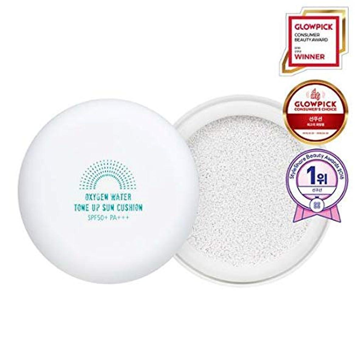 報酬のいつでも経験シンムルナラ 酸素水トーンアップサンクッション15g, SPF50+ PA+++ / Shingmulnara Oxygen Water Tone Up Sun Cushion (#01 White)
