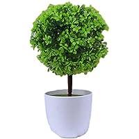 【morningplace】 フェイクグリーン 人工 観葉植物 トピアリー ボール お世話のいらない 癒し インテリア (グリーン)
