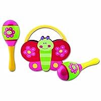 Stephen Joseph Percussion Set Flower/Butterfly [並行輸入品]