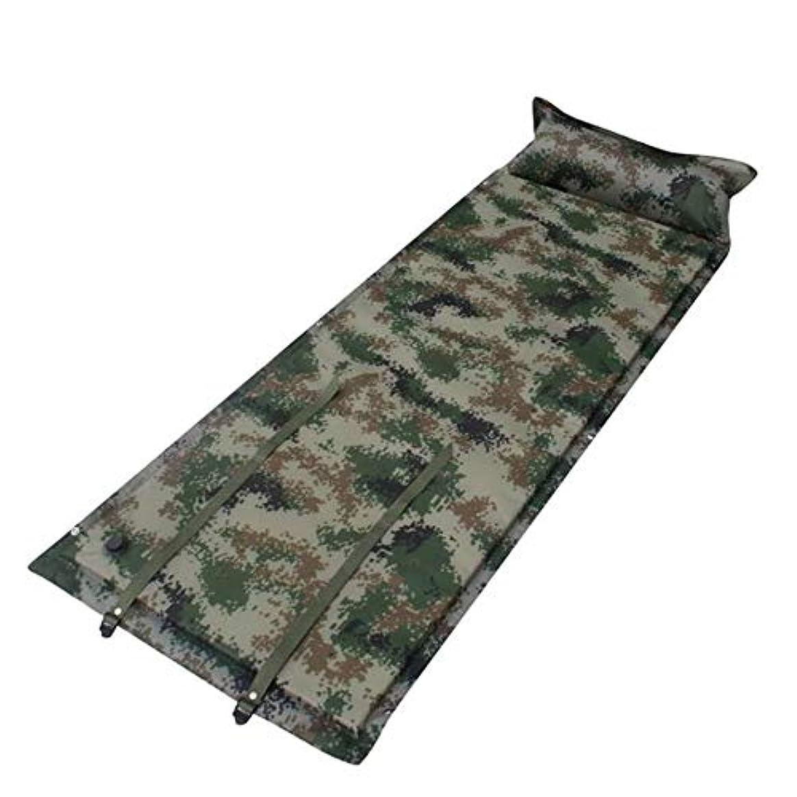 やさしくアウトドアに対して枕付き2人コンパクト屋外の膨脹可能な泡の睡眠のマットの空気マットレスの防水接続の組合せの折り畳み式の自己膨張のキャンプの睡眠のパッド (色 : 2PCS, サイズ : 72.8*25.59*1.57inches)