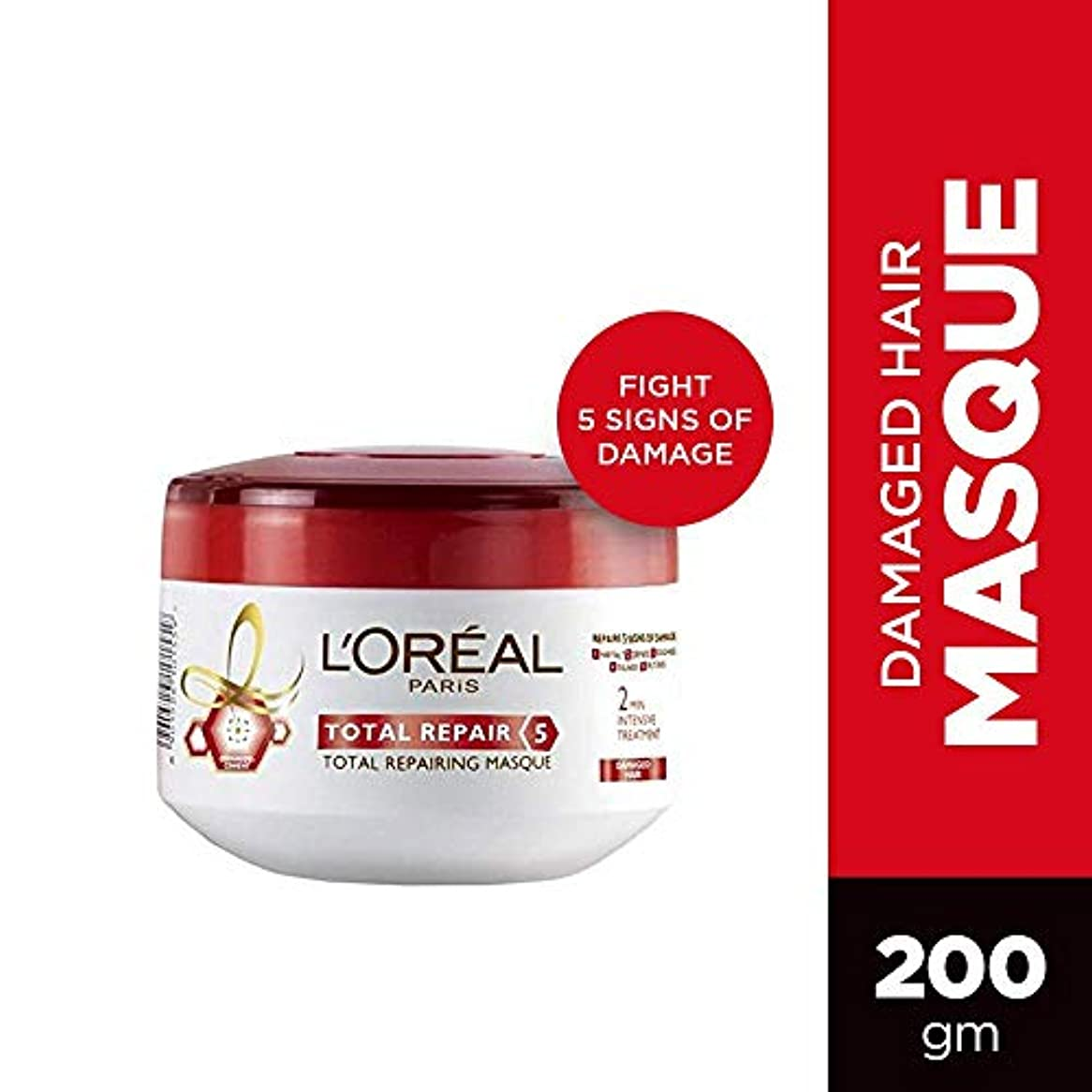 脈拍ひもシンプトンL'Oreal Paris Total Repair 5 masque, 200ml