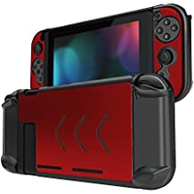 Betapleon Nintendo Switch用保護カバー Nintendo Switch用ケース プラスチックとアルミニウム素材 保護カバー 衝撃吸収 キズ防止 高防熱性 赤