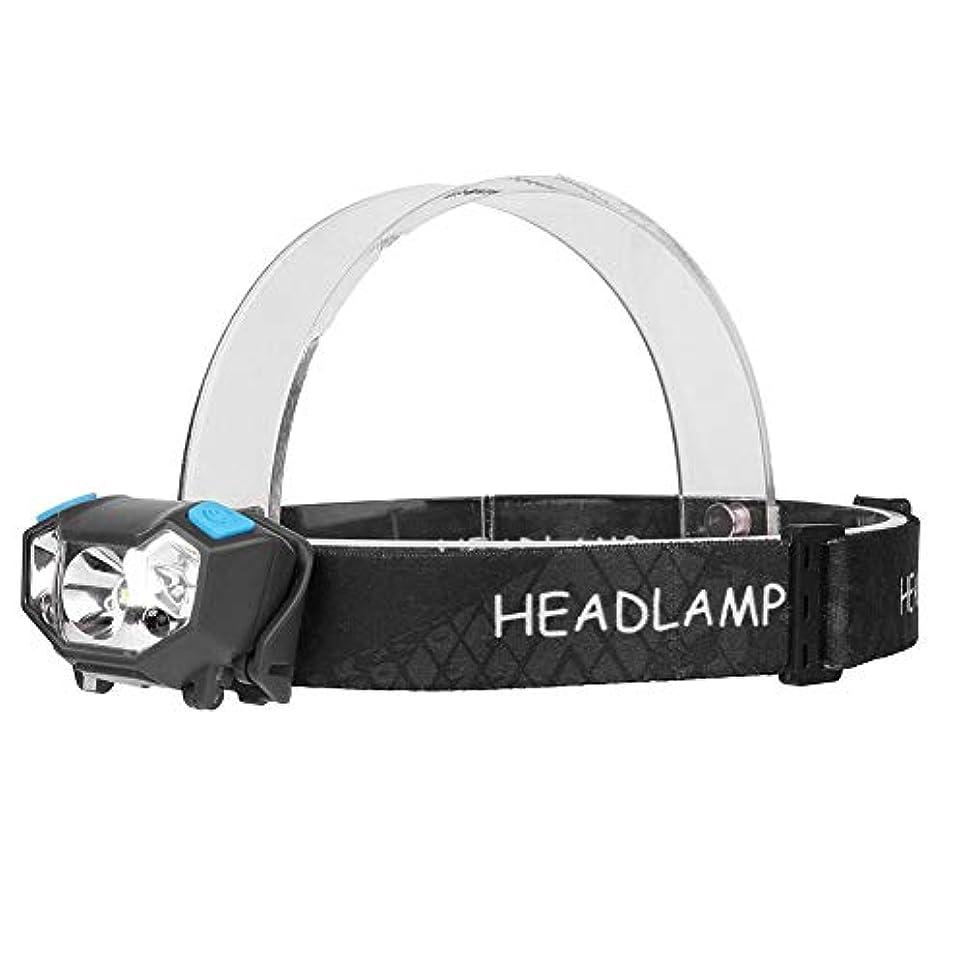 好奇心盛軽減する通りvolflashy ヘッドランプ USB 充電式 XPE LED モーション センサー 懐中電灯 5モード 防水 釣り ヘッドライト