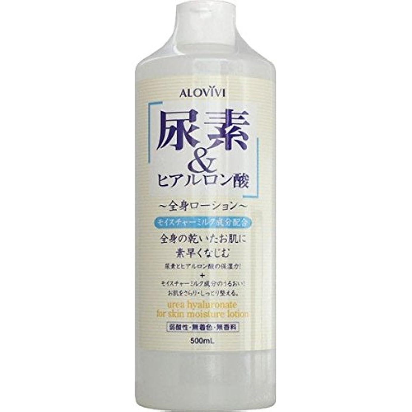 有彩色の水を飲むニュースアロヴィヴィ ALOVIVI 尿素&ヒアルロン酸全身ローション 500ml